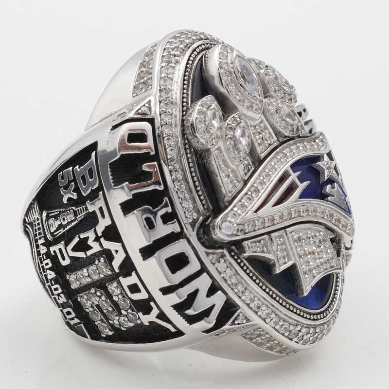 Larger view of tom brady super bowl rings 2016