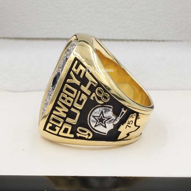 Left side view of Dallas Cowboys Championship Ring (1978 NFC champions)