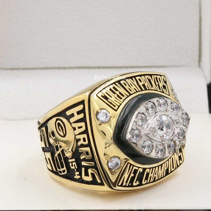 overview of green bay packers championship ring (1997 NFC champions)