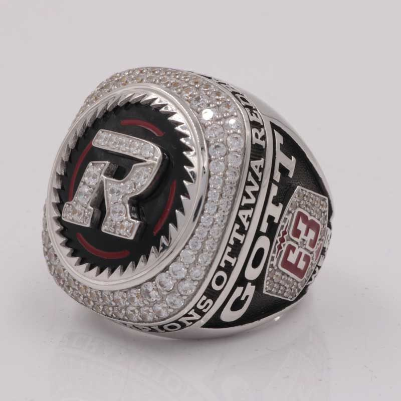 over view of 2016 grey cup ring