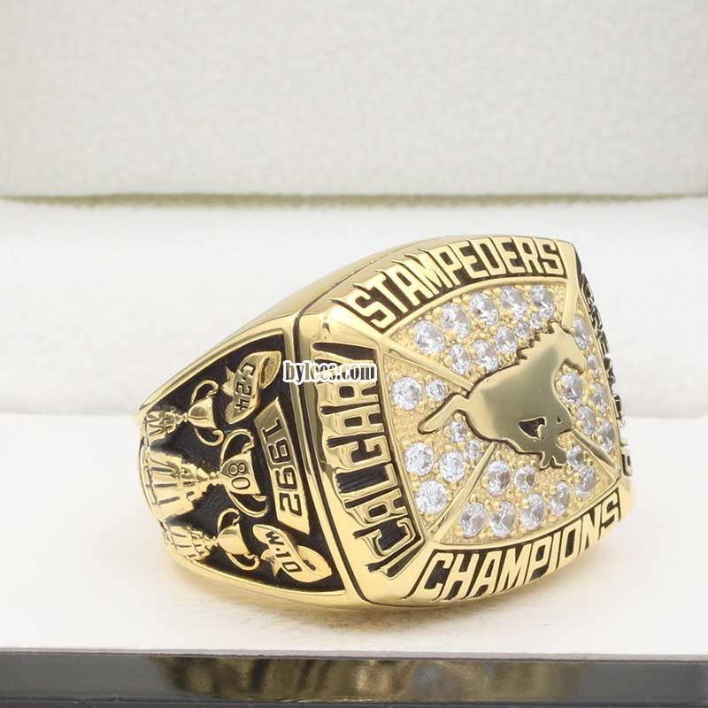 overview of calgary stampeders grey cup ring 1992