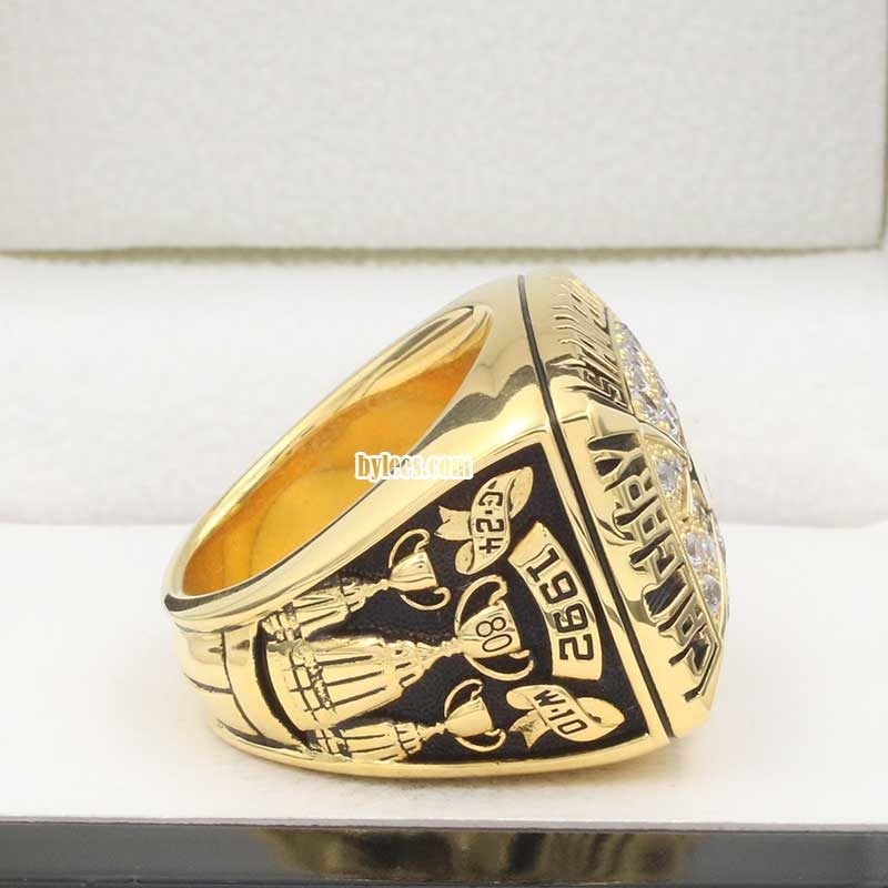 right sideview of calgary stampeders grey cup ring 1992
