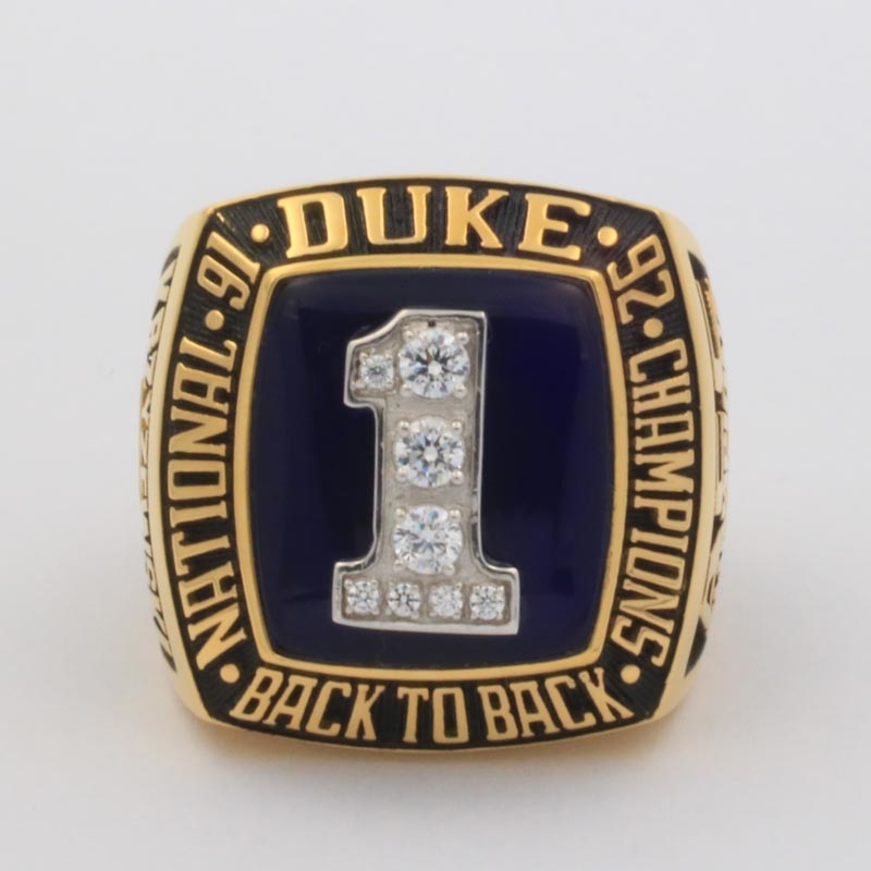 1992 duke basketball national championship ring