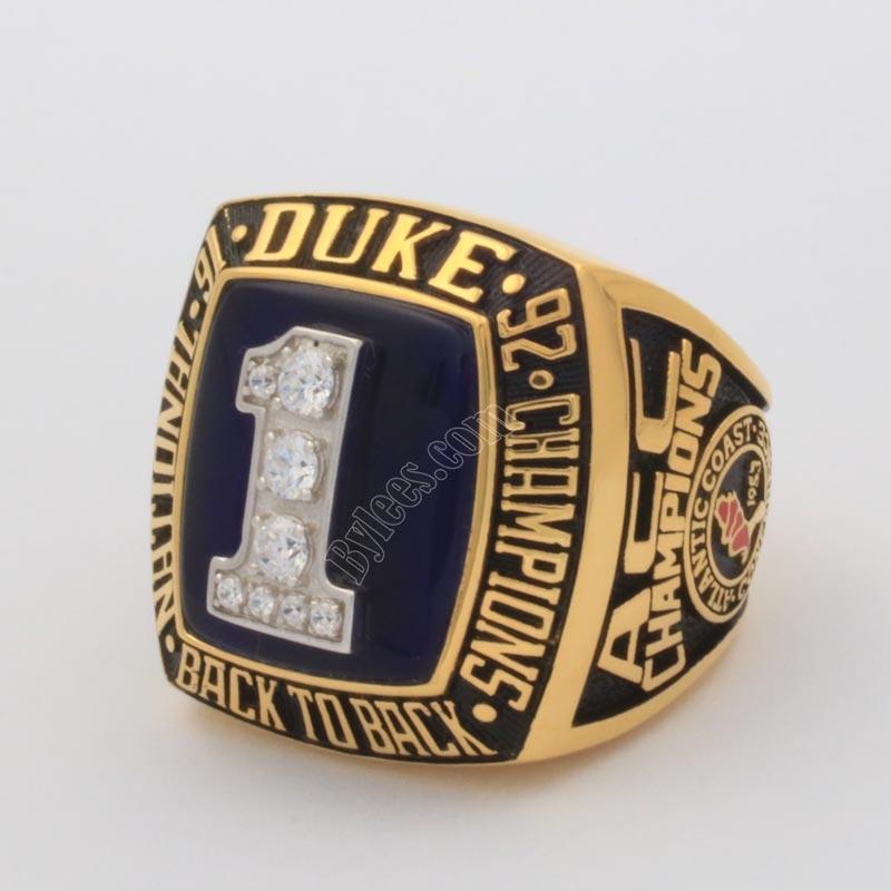 1992 duke championship ring