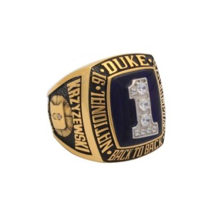 1992 Duke Blue Devils Basketball National Champions Ring