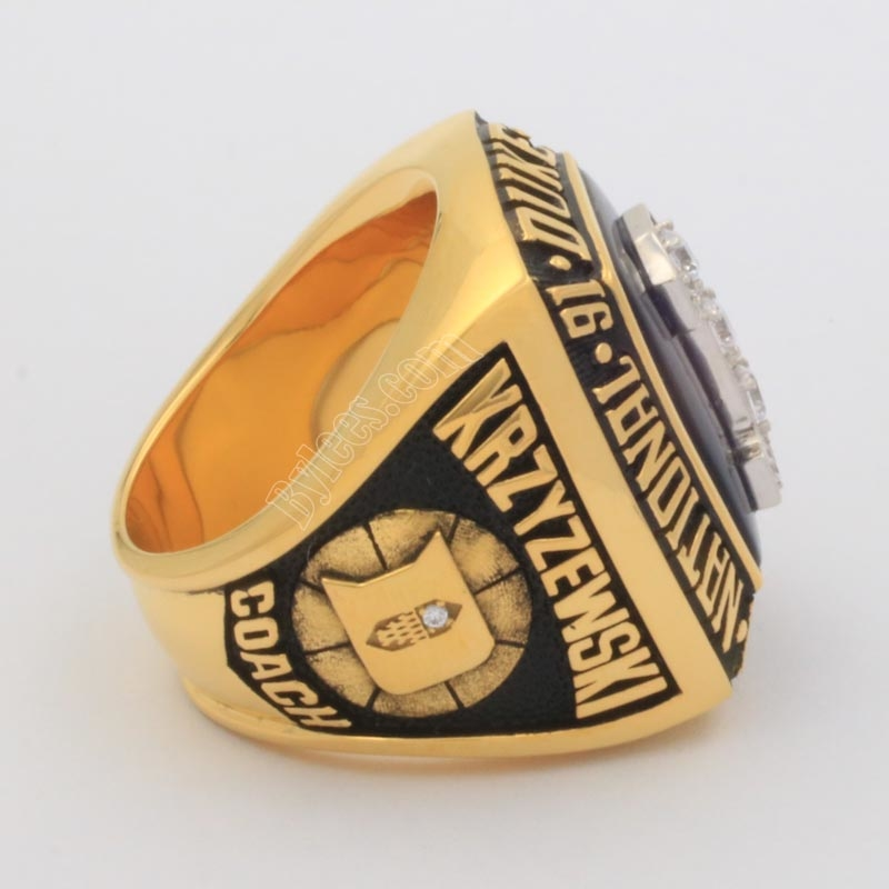 Mike Krzyzewski 1992 basketball national championship ring